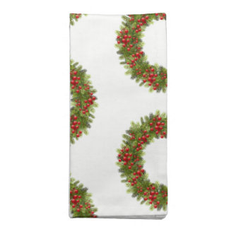 Holiday Napkins Set-Red Berry Wreath