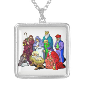 Holiday Nativity Scene Necklace