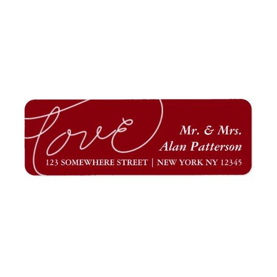 Holiday Newlywed Love Address Label