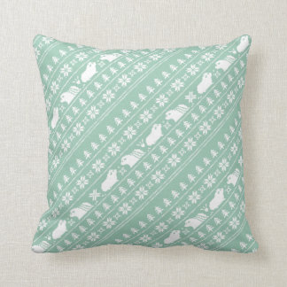 Holiday Nordic Piggy Throw Pillow