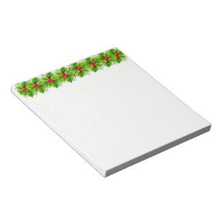 Holiday Notepad-Holly Notepad