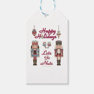 Holiday Nutcracker Lets Go Nuts Gift Tags