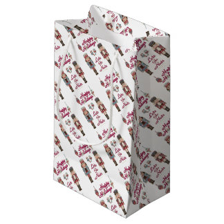Holiday Nutcracker Lets Go Nuts Small Gift Bag