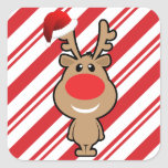 Holiday of funny Christmas santa Square Stickers