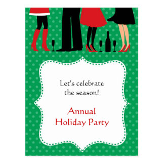 Holiday Office Party Invitation Postcard