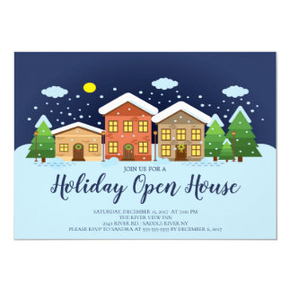 Holiday Open House Christmas Party Invitation