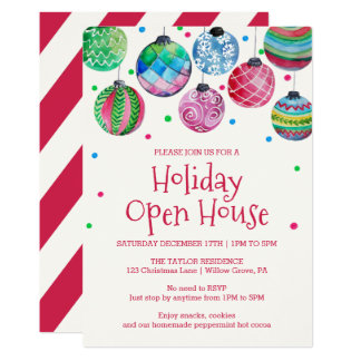 Holiday Ornament Holiday Open House Card