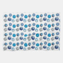 Holiday ornament kitchen towel - blue