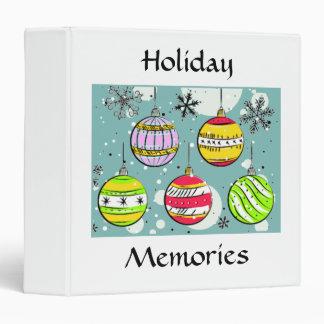 Holiday Ornaments 3 Ring Binders
