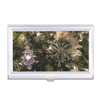 Holiday Ornaments Business Card Holder