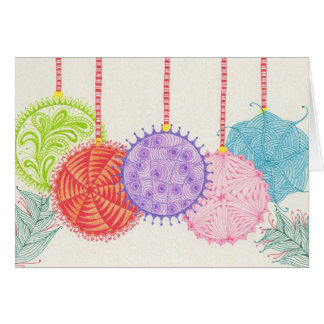 Holiday Ornaments Card