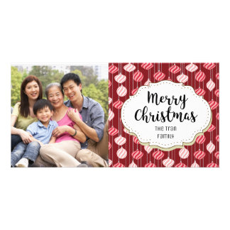 Holiday Ornaments Christmas Picture Photo Card
