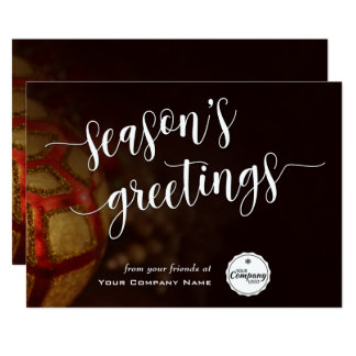 Holiday Ornaments, Corporate Season's Greetings Card