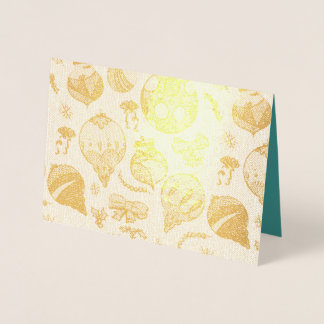 Holiday Ornaments Foil Card