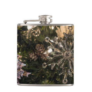 Holiday Ornaments Hip Flask