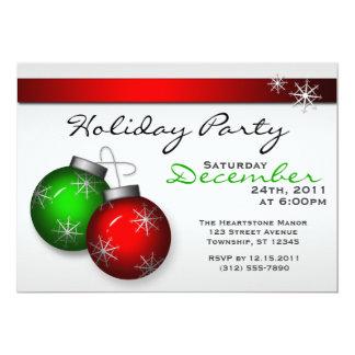 """Holiday Ornaments Party Invitations 5"""" X 7"""" Invitation Card"""