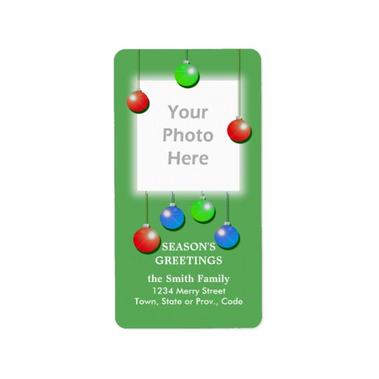 Holiday Ornaments Tall Photo Frame