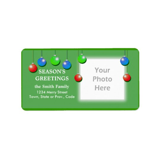 Holiday Ornaments Wide Photo Frame