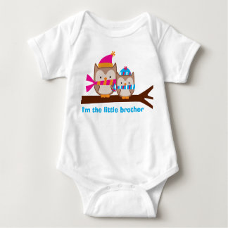 Holiday Owls Little Brother Sibling Tee