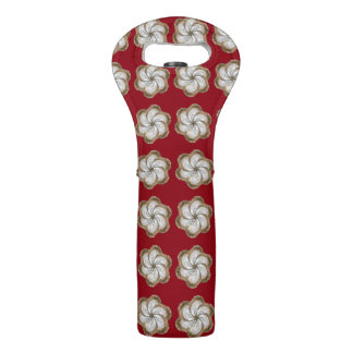 Holiday Oyster Flower Wine Tote - Design C