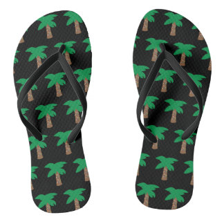Holiday Palm Tree Flip Flops