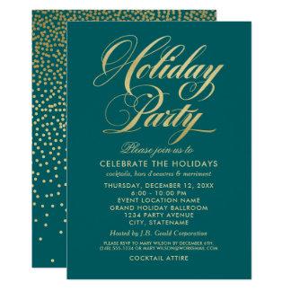 Holiday Party Invitation | Elegant Gold Script