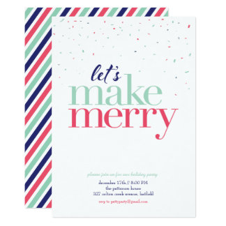Holiday Party Invitation *Let's Make Merry*