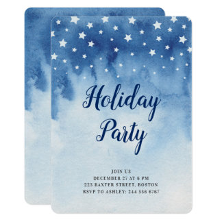 Holiday party invitation. New Year's Party. Winter Card