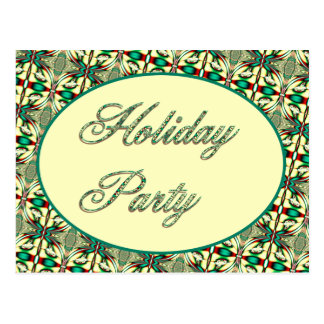 Holiday party postcard