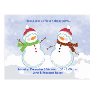 HOLIDAY Party Snowman Postcard Invitation