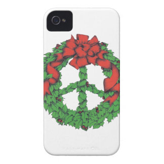 Holiday Peace Wreath iPhone 4 Case-Mate Case