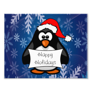 Holiday Penguin Photograph