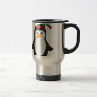 Holiday Penguin Travel Mug