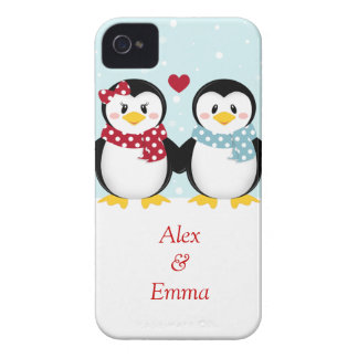 Holiday PEnguins iPhone Case