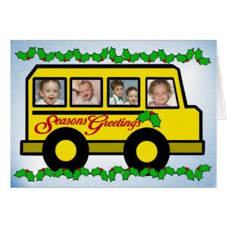 Holiday Photo Bus Greeting Card