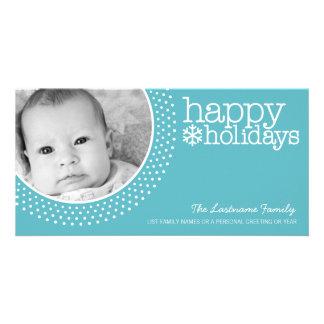 Holiday Photo Card - Designer Polka Dots