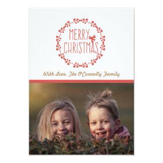 Holiday Photo Card | Merry Christmas Wreath