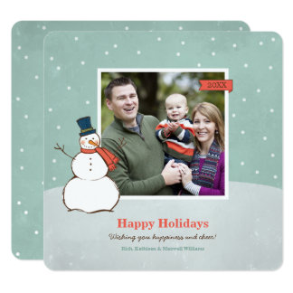 Holiday Photo Card | Winter Snowman