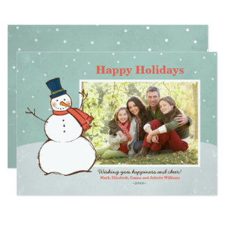 Holiday Photo Card | Winter Snowman Theme