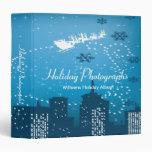 Holiday Photographs City Santa Vinyl Binder