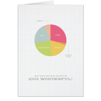 Holiday Pie Chart Christmas Card