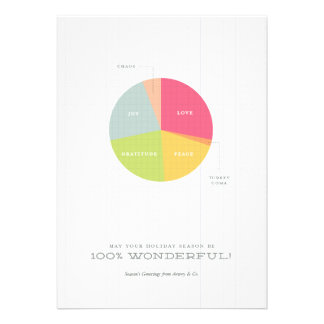 Holiday Pie Chart Christmas Card Personalized Announcements