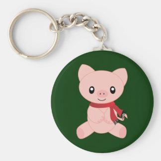Holiday Piggy Key Chain