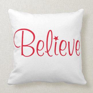 Holiday Pillow-Believe Throw Pillow
