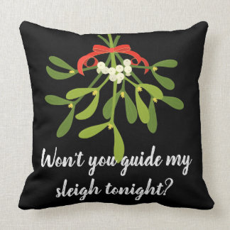 Holiday pillow with romance - Santa's words