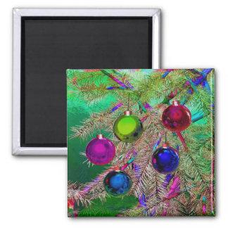 Holiday Pine Decor Magnet