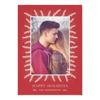"Holiday Pine Frame 5"" X 7"" Invitation Card"