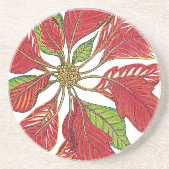 Holiday Poinsettia Coaster