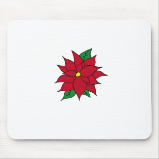HOLIDAY POINSETTIA / FLOWER, CHRISTMAS MOUSE PAD