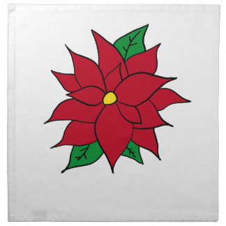 HOLIDAY POINSETTIA / FLOWER, CHRISTMAS NAPKIN